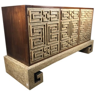Stunning Asian Modernist Server / Credenza in the Manner of James Mont For Sale
