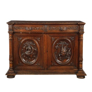 19th Century Continental Baroque Style Cupboard For Sale