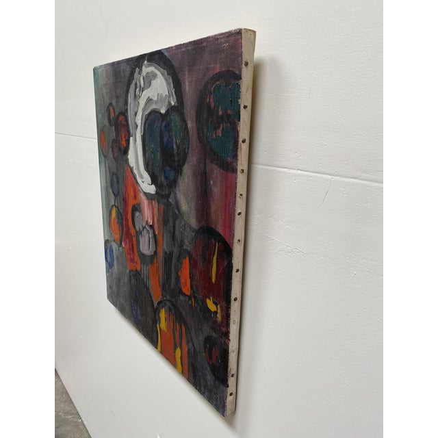 1960s 1960s Abstract Figurative Oil Painting For Sale - Image 5 of 7