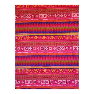 Tribal Vibrant fabric, 3 yds For Sale