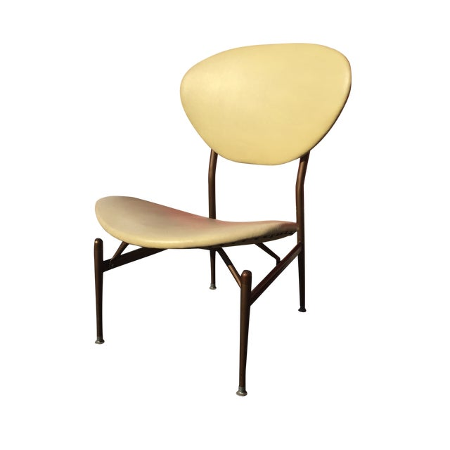 Mid-Century Modern Metal Framed Chair - Image 1 of 9