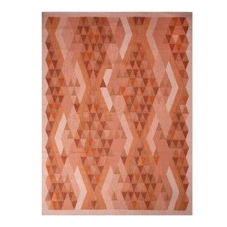 Rug & Kilim's Scandinavian Inspired Orange and Brown Wool Rug - 8′11″ × 12′1″ For Sale