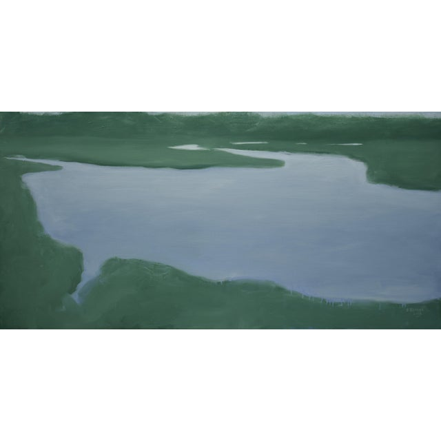Salt Water Inlet Landscape Painting For Sale - Image 9 of 9