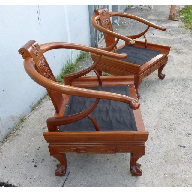 Pink 1960s Ming Arm Chairs - a Pair For Sale - Image 8 of 10