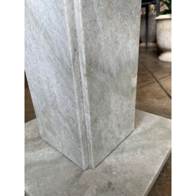 Mid 20th Century Neoclassical Circular Marble Side Table For Sale - Image 5 of 10