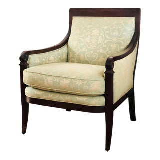 Modern Baker Furniture French Style Armchair For Sale