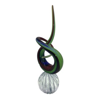 Murano Sandro Frattin Signed Art Glass Knot For Sale