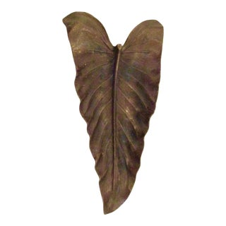 Bronze Calla Lily Tray Virginia Metalcrafters For Sale