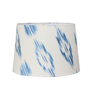 Blue Ikat Tapered Lampshade For Sale