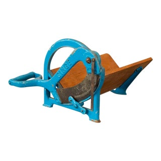 Vintage Blue Painted Ginge Danish Bread Cutter For Sale