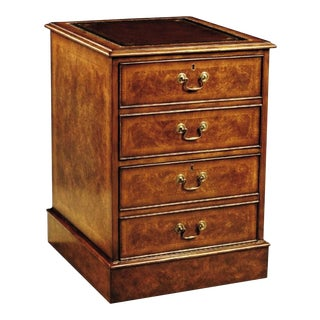 Scarborough House Burl Walnut File Cabinet For Sale