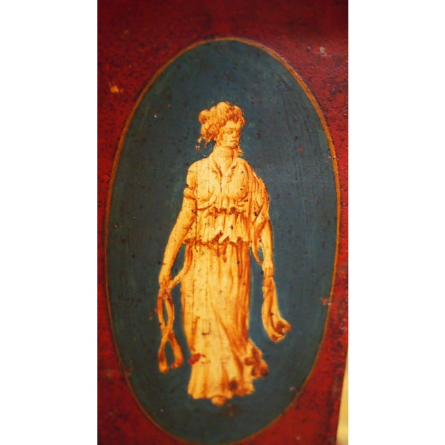 Mid 19th Century Pair of 19c. Neoclassical Tole Vases For Sale - Image 5 of 9
