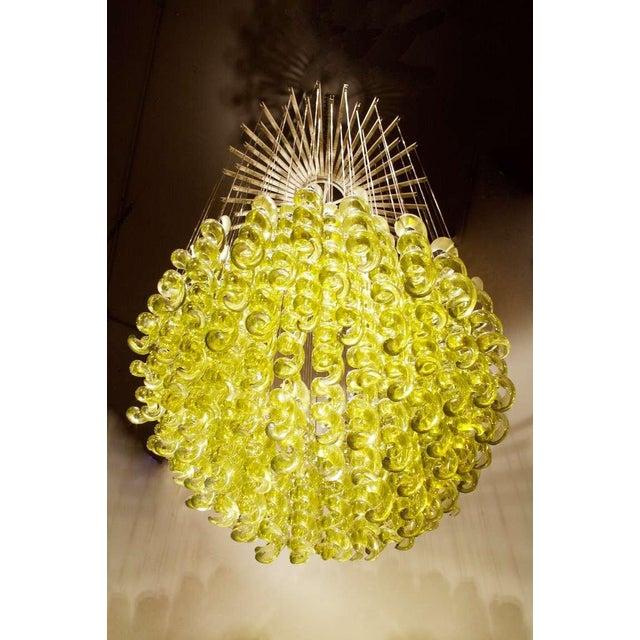 Exceptional Venetian Blow, Glass Pendant Light Fixture For Sale - Image 4 of 6