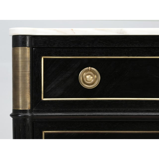 French Louis XVI Ebonized Commode With Marble For Sale In Chicago - Image 6 of 11