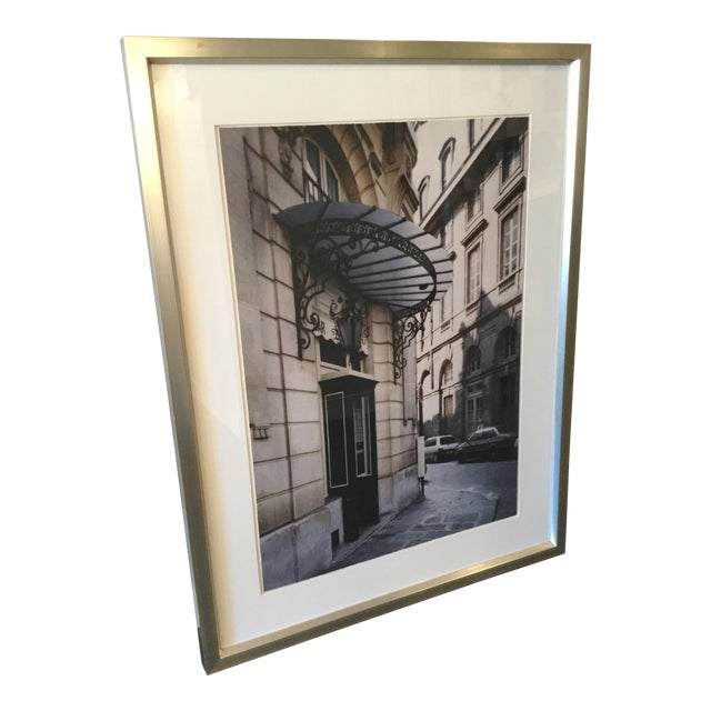 Framed Photograph of a Paris Street For Sale