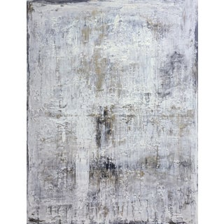 """""""1154 Antique Series White/Gold"""" Abstract Painting For Sale"""