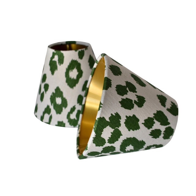 Green Leopard Sconce or Chandelier Shade For Sale