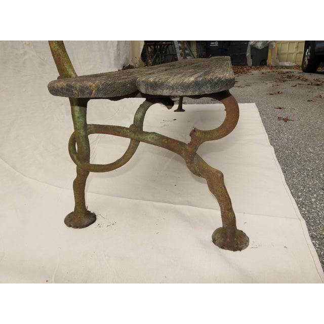 Late 19th Century French Garden Bench, 19th Century For Sale - Image 5 of 9