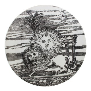 "Porcelain Plate ""12 Mesi 12 Soli"" by Piero Fornasetti For Sale"