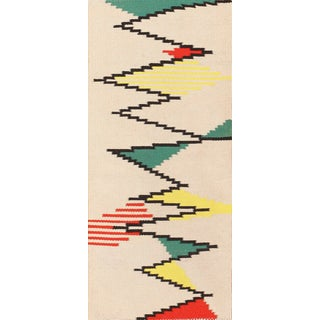 Small Antonin Kybal Vintage French Kilim Rug - 2′4″ × 4′11″ For Sale