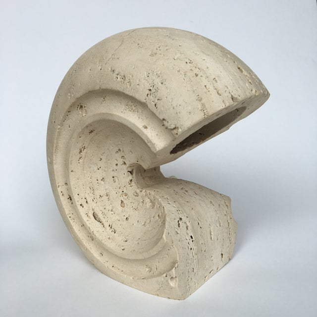 Vintage sculptural stone table lamp by Albert Tormos. Lamp has to be rewired for US use. CREATOR Giuliano Cesari...