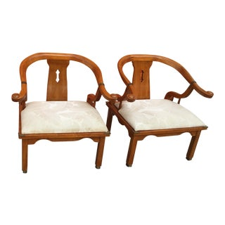 1960s Vintage Chairs Oriental Chairs- a Pair For Sale