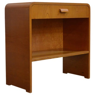 Vintage Swedish Art Moderne Night Stand or Table in Golden Elm For Sale