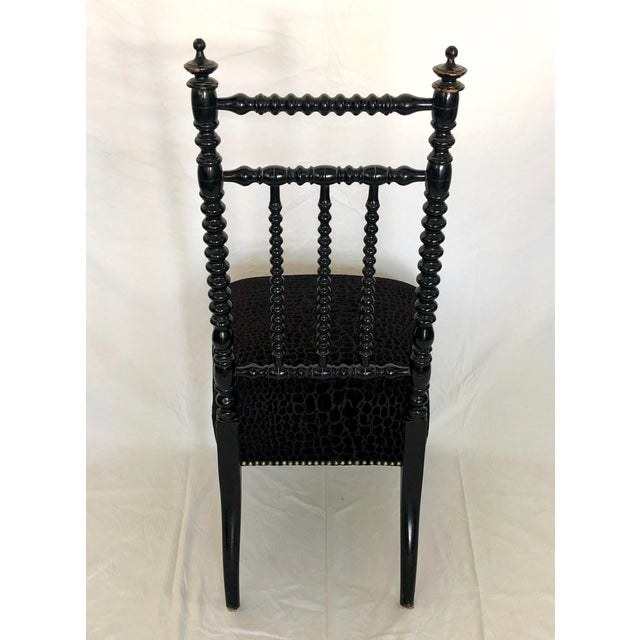 Antique French Prayer Chair For Sale - Image 4 of 8