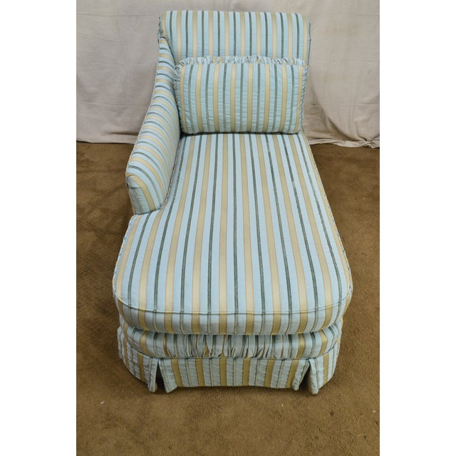 1990s Cox Quality Upholstered Recamier Chaise Lounge For Sale - Image 5 of 12