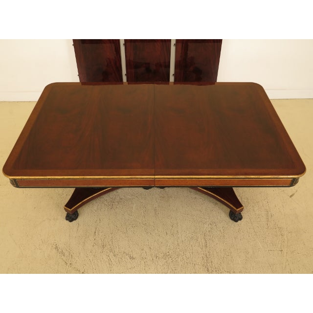 This is a vintage Baker regency mahogany dining table. It's about 20 years old. Details: High Quality Construction Gold...