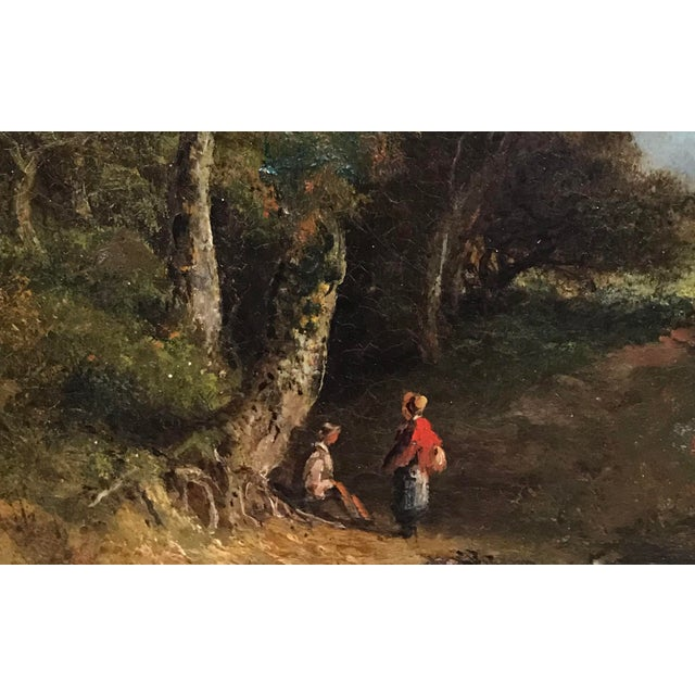 19th Century Pastoral Landscape Oil on Board Painting, Framed For Sale - Image 4 of 10