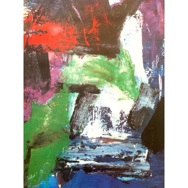 """Paper Franz Kline Rare Vintage 1987 Abstract Expressionist Lithograph Print """" Pafinvest Studio Marconi """" Italian Exhibition Poster For Sale - Image 7 of 13"""