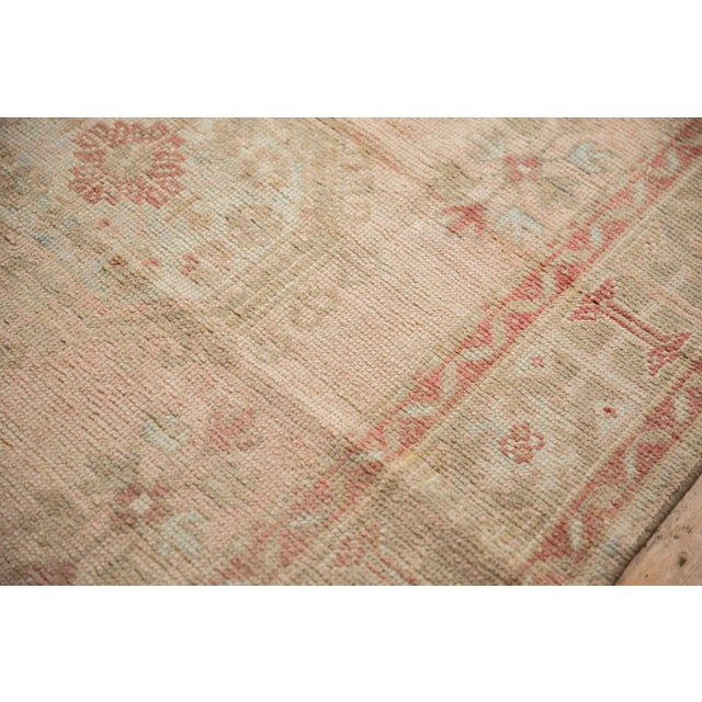 """Vintage Distressed Oushak Rug Runner - 4'8"""" X 11'5"""" For Sale In New York - Image 6 of 13"""