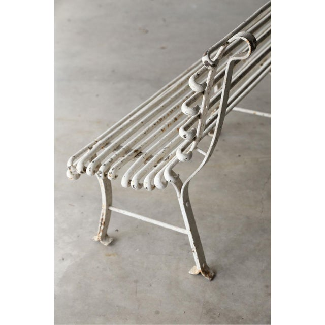 French Iron Bench For Sale - Image 4 of 10
