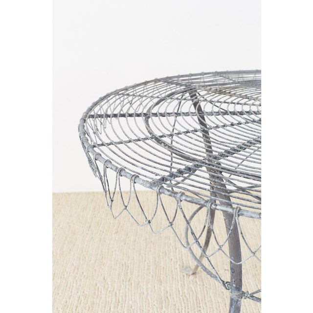 Early 20th Century French Wrought Iron and Wire Garden Dining Table For Sale - Image 5 of 13