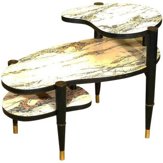 Mid-Century Modern Biomorphic Side Table with Formica Top For Sale