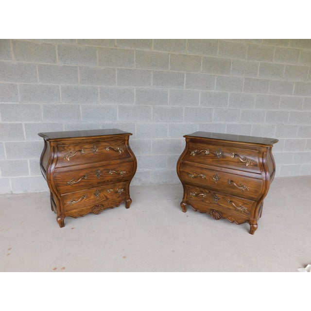 """Baker French Louis XV Style Bombe Chests - a Pair 31""""w X 30""""h For Sale - Image 13 of 13"""