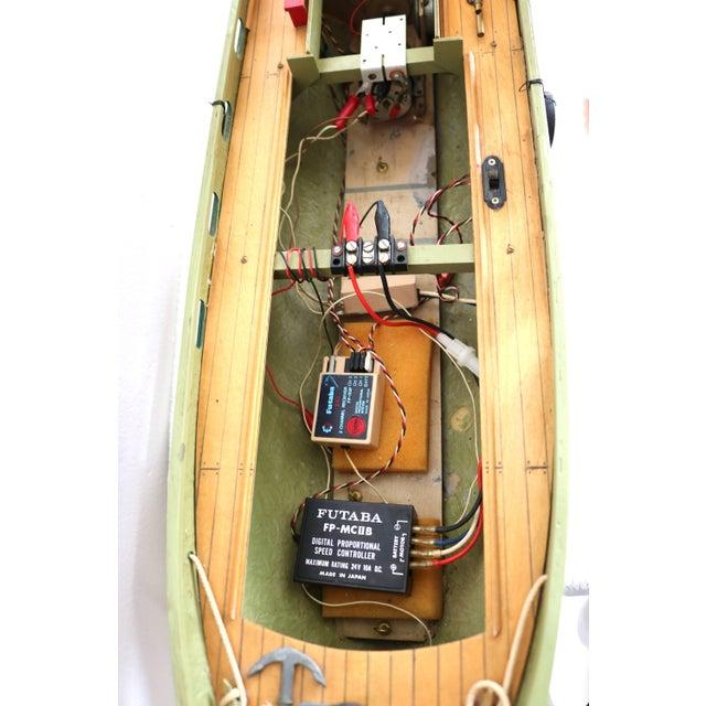 "1950s Artisan Carved Wood Boat Pa-Lan ""Cincinnati"" For Sale In West Palm - Image 6 of 10"