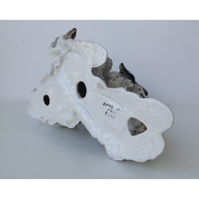 Vintage Italian Porcelain Springer Spaniels For Sale - Image 9 of 11