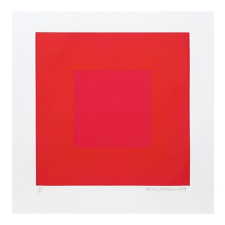 """Richard Anuszkiewicz, """"Summer Suite"""" (Red & Gold Iv), Op Art Etching For Sale"""