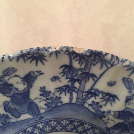 Antique Chinese Blue & White Export Porcelain Side Plate - Image 4 of 6