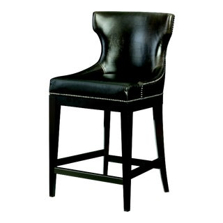 Century Furniture Pinyon Counter Stool, Mink Leather For Sale