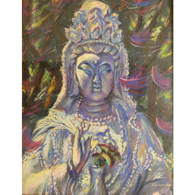 Asian Michelle Manning Quan Yin Framed Artist Proof Print For Sale - Image 3 of 5