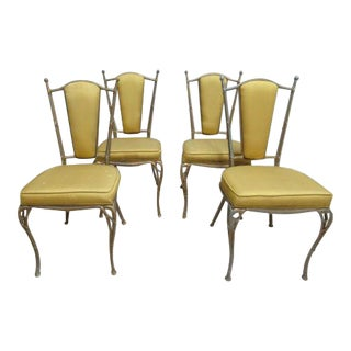 Vintage French Regency Aluminum Side Chairs - Set of 4