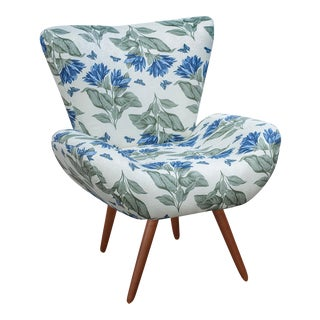 Jaspe Armchair Floral Blue For Sale