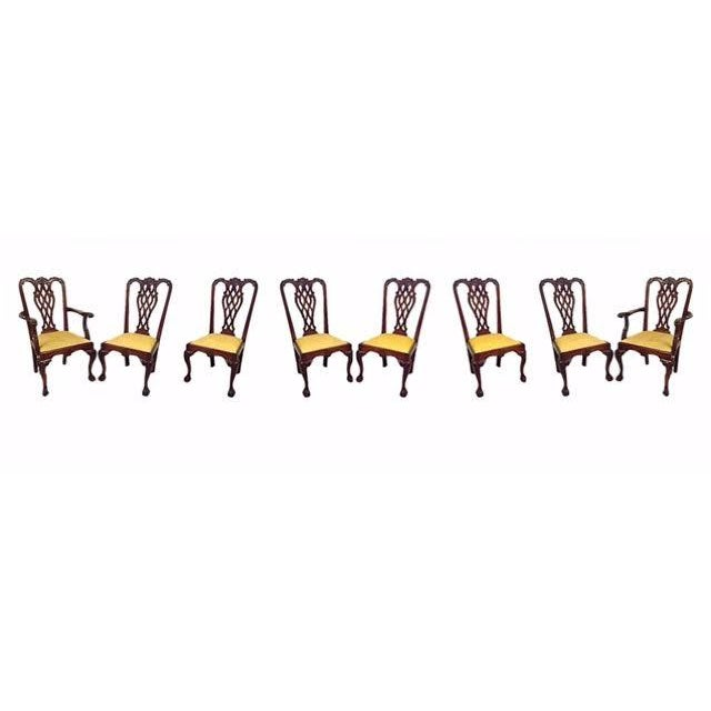 Georgian Style Dining Chairs - Set of 8 - Image 1 of 9