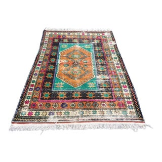 Antique Faded Anatolian Decorative Rug - 4′7″ × 6′11″