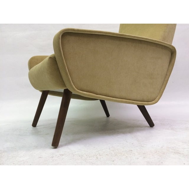 Mid-Century Italian 1950s Recliner With Ottoman - Image 5 of 6