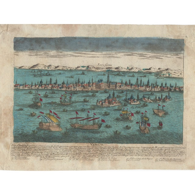 Venice Italy Hand Colored Panorma Etching - Image 1 of 4