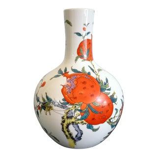 Gumps Pomegranate Ceramic Vase For Sale
